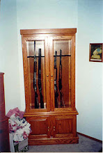 Photo: Oak gun cabinet for my brother-in-law.