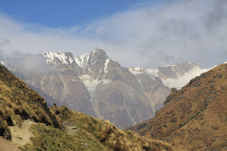 Photo: last of climbs before the hamlet of Marjhali comes in view - the camp on Day04