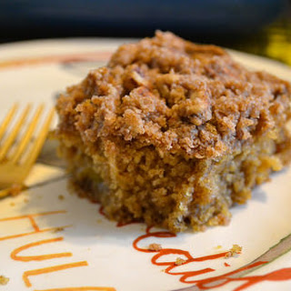 Vegan Cinnamon Peach Coffee Cake