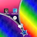 Rainbow Zipper Lock Screen icon