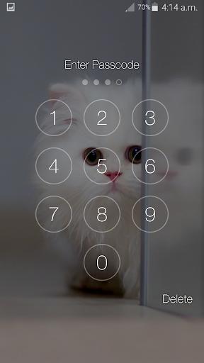 Kitty Cat Pin Lock Screen 6.2 screenshots 8