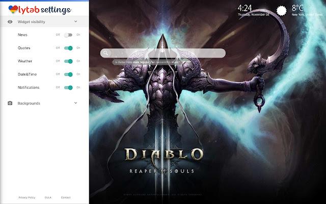 Diablo 3 Wallpaper Theme New Tab