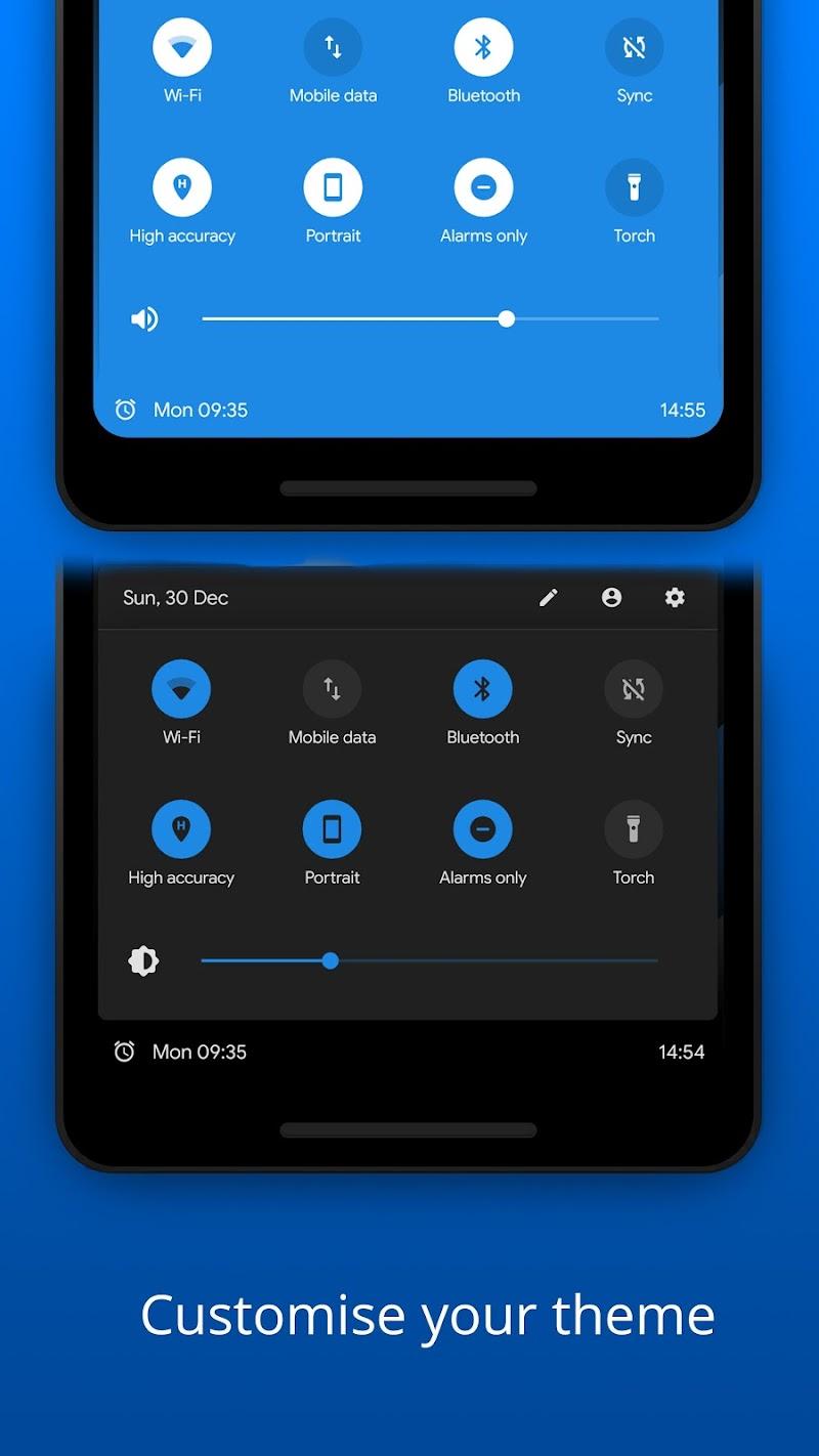 Bottom Quick Settings - Notification Customisation Screenshot 1