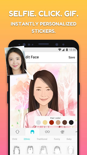 MojiPop - My Personal Emoji Keyboard & Camera 2.2.1 screenshots 1
