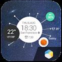 Digital Clock&weather forecast icon