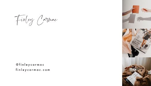 Carmac Photography Back - Business Card Template