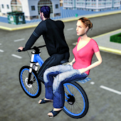 BMX Bicycle Taxi Driving Sim 2018