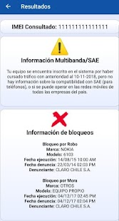 Consultar IMEI Chile Screenshot