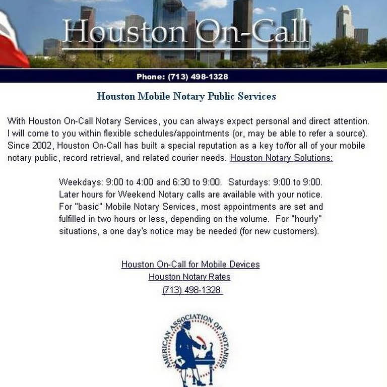 Houston Mobile Notary Public Services - Mobile Notary Public