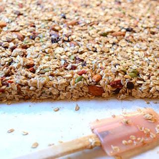 Maple Oatmeal Nut Granola Bars Recipe