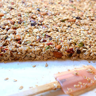 Maple Oatmeal Nut Granola Bars.