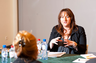 Photo: Jane Bevan from the UK's Equality and Human Rights Commission