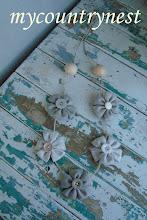 Photo: collana estiva fiori in lino e cotone