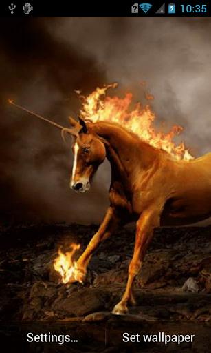 Unicorn with fiery mane LWP