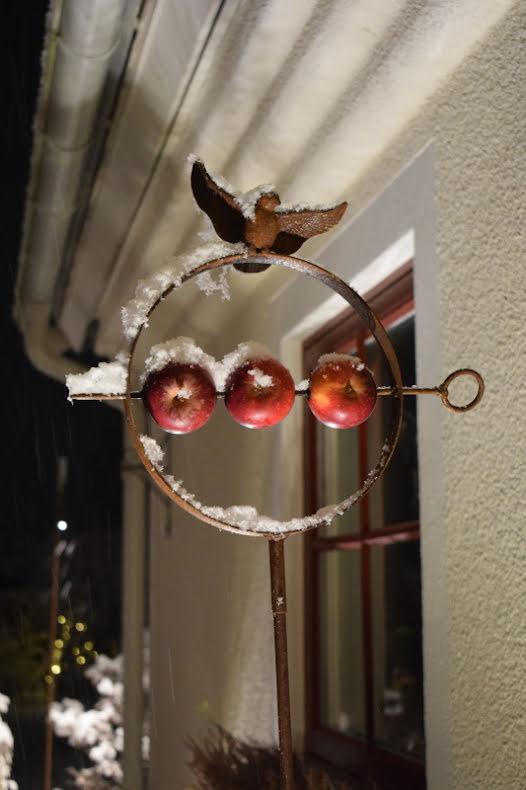 Fågelmatshållare Ø 22 cm rost Two Faces