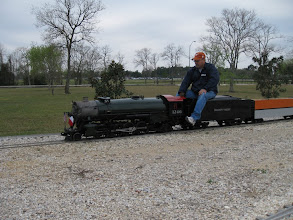 Photo: Rick Pike with his 2-8-2   HALS 2009-0228