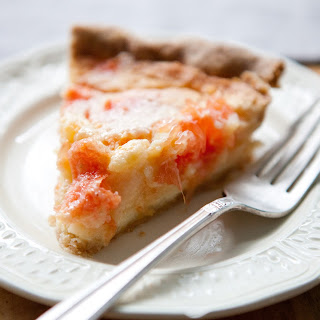 Grapefruit Chess Pie with Sweet Rye Crust