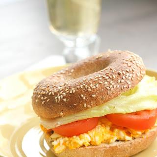 E.L.T. (Egg Lettuce Tomato) Breakfast Bagel
