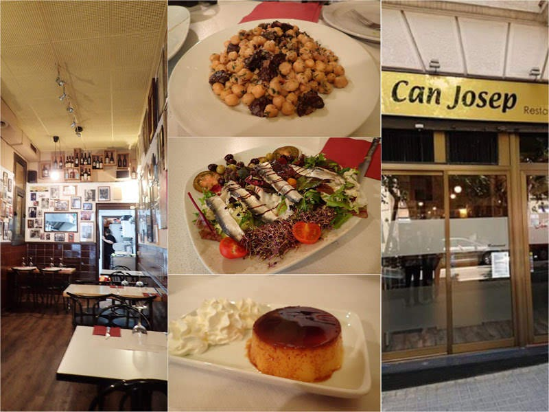 Lunch set at Can Josep Restaurant (Barcelona, Spain)