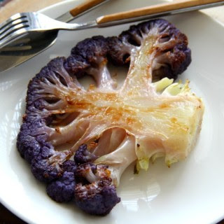 Roasted Purple Cauliflower Steaks