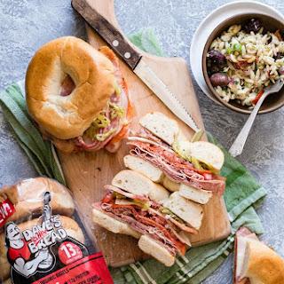 Italian Salami Bagel Sandwich Recipe