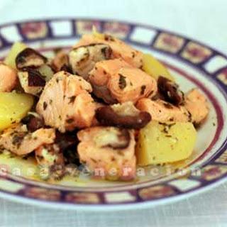 Salmon in Garlic-Lemon Sauce