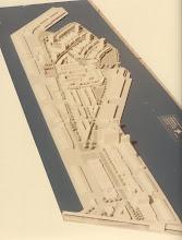Photo: [1983 ©-verzameling KBO] - http://www.Katendrecht.info - schetsen & studies - opvallend is de symetrie aan het Eerste en Tweede Katendrechtsehoofd, evenals dat er wel plannen waren voor het Derde Katendrechtsehoofd maar niet voor de Hanno loodsen langs de Maashaven.