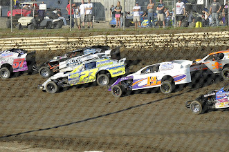 Photo: Some races with the IMCA Modified. IMCA stands for International Motor Contest Association.