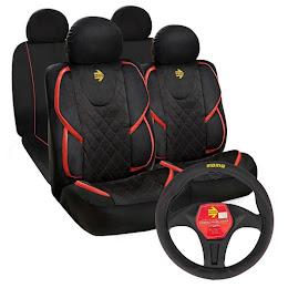 Set 11 huse pentru scaune auto + Husa volan