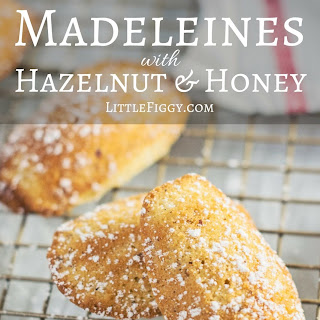 Madeleines with Hazelnuts and Honey.
