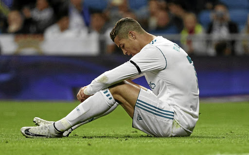 No goals, no smiles: Cristiano Ronaldo ponders another missed chance against Las Palmas on Sunday. Picture: REUTERS