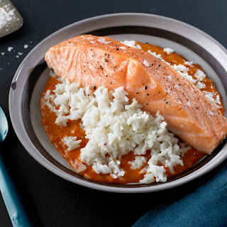 Baked Salmon With Coconut-Tomato Sauce