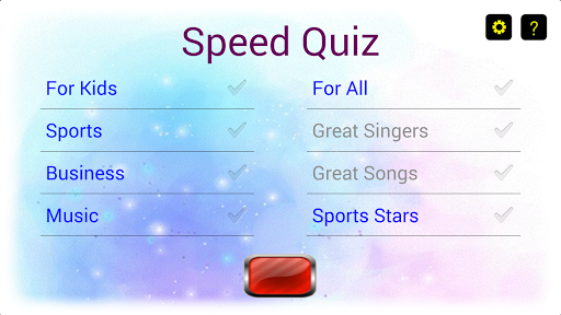 Heads Up for Speed Quiz
