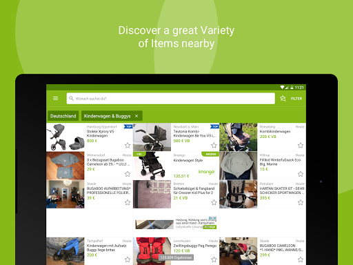 eBay Kleinanzeigen for Germany app (apk) free download for Android/PC/Windows screenshot