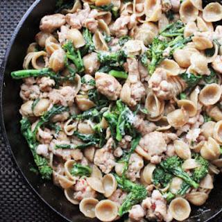 Skillet Orecchiette with Sausage and Broccoli Rabe Recipe