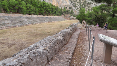 Photo: The Stadium! The Olympic games were not the only show in Ancient Greece. There were games at every major temple site, including Delphi.