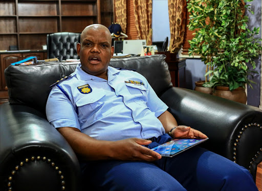 07 September 2016. LISTEN UP: Acting police commissioner Lieutenant-General  Khomotso   Phahlane  has introduced a back-to-basics strategy for everything from how police relate to the public to handling crime scenes professionally. Pic: Simphiwe Nkwali. © Sunday Times.