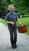 Photo: Simon im Anmarsch in fröhlicher Stimmung