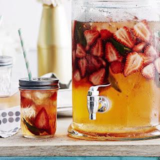 Strawberry and Elderflower Mocktail.