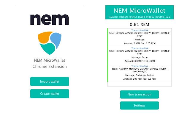 NEM Microwallet