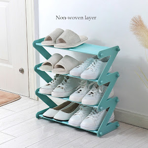 Etajera pentru pantofi sau accesorii, in forma de Z din otel inoxidabil