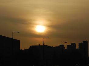 Photo: Świdnik, słońce zasłonięte przez pył znad Sahary