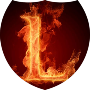 Fiery letter L Live Wallpaper download