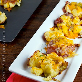 Smashed Potatoes with Cheese