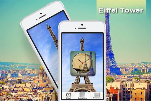 Eiffel Clock Live Wallpaper