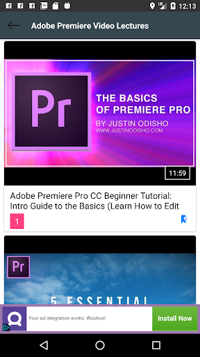Learn Adobe Premiere Pro Video Lectures 1.6 Apk for Android 3