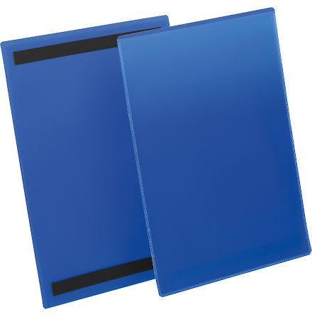 Plastficka A4S magnetisk blå
