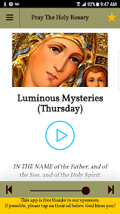 Pray the Holy Rosary With Audio Free Catholic App- screenshot thumbnail