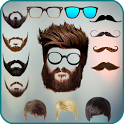 Men beard photo editor Mustache : Hairstyle salon icon