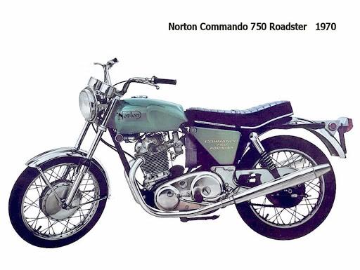 Norton Commando 750 Roadster North America 1970.